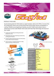 Cooler Master CoolViva (VHC-L61) VHC-L61-U1 Leaflet