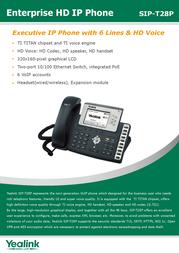 Yealink SIP-T28P 8061110 Leaflet