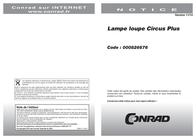 Glamoxluxo Circus Plus 3.5 dioptre (1.9x) Magnifying Workshop Lamp CIR025143 Data Sheet