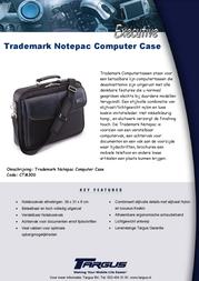 Targus Trademark Notepac Computer Case CTM300 Leaflet