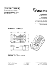 Enerdan Enerpower Multi, 2-Slot Universal Battery Charger Li-ion 136580 Data Sheet