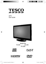 Tesco IDTV 19-230P User Manual