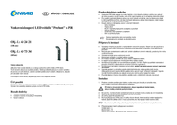 Wera LED outdoor free standing light (+ motion detector) 3.84 W Warm white 12537-600 Anthracite 12537-600 Data Sheet