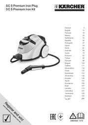 Kaercher Steam cleaner Kärcher SC5 Premium Iron Kit 1.512-522.0 2200 W White, Grey incl. iron 1.512-522.0 Data Sheet