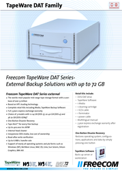 Freecom TapeWare DAT-40es 13813 Leaflet