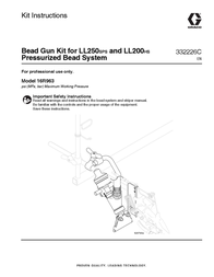 Graco 332226C - Bead Gun Kit for LL250SPS and LL200HS User Manual