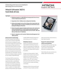 Hitachi ULTRASTAR 36Z15 18GB 80PIN IC35L018UCPR15 Leaflet