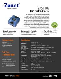 Zonet ZPS1002 Leaflet