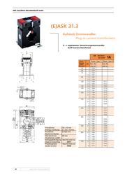 Mbs ASK31.3 50/5A Current transformer ASK. 31.3 7038 Data Sheet