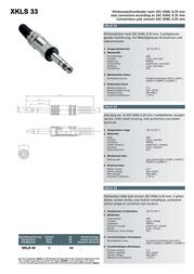 Intronics 6.3 mm Jack - Metal, male6.3 mm Jack - Metal, male XLSM33 Leaflet