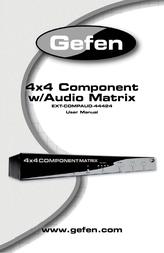 Gefen EXT-COMPAUD-44424 User Manual