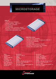 "MicroStorage External USB 2.0 and FireWire with 2,5"" harddrive. 30GB IB30000E956 Leaflet"
