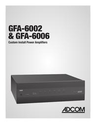 Adcom GFA-6002 Owner's Manual