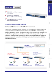 Cnet CSH-2400 Leaflet