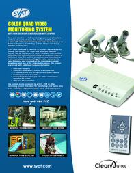 Svat Color Quad Security System CVQ1000 Leaflet