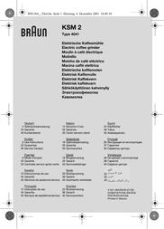 Braun Aromatic KSM 2 BKSM2 User Manual