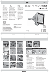 XQ-lite LED outdoor floodlight (+ motion detector) 50 W Daylight white XQ-Lite XQ1226 Grey XQ1226 Data Sheet