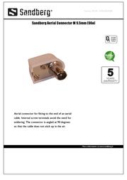 Sandberg Aerial Connector M 9.5mm (90ø) 504-48 Leaflet