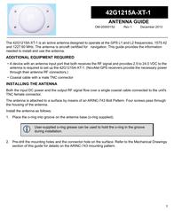 Novatel 42G1215A-XT-1 User Manual