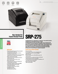 Bixolon SRP275A SRP-275AG Leaflet