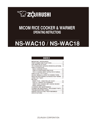 Zojirushi NS-WAC10 User Manual