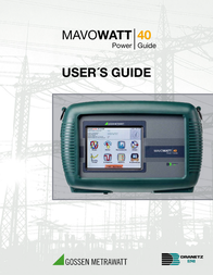 Gossen Metrawatt M817J Mains-analysis device, Mains analyser M817J Data Sheet