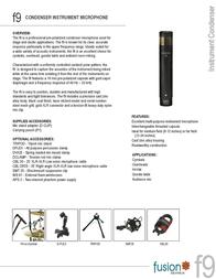 Audix Fusion F9 AUDIX F9 Leaflet