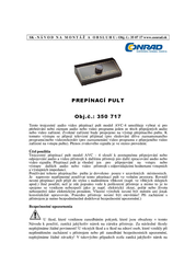 Speaka 3 ports Composite switch Black 350717 User Manual