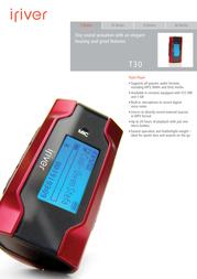 iRiver T30 FLASH 1 GB 3T307A-EUREX1 Leaflet