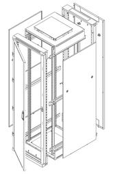 "Triton 19"" Delta RZ Rack 45U/800x900 glass door RZA-45-A89-CAX-A1 Leaflet"