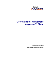 Sybase M-Business Anywhere Client DC00297-01-0670-01 User Manual