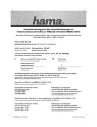 "Hama ""FK-968"" Wireless Headphones 00040968 Leaflet"