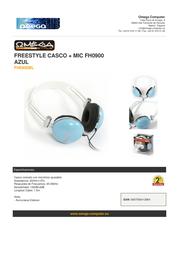 Omega FH0900BL Leaflet