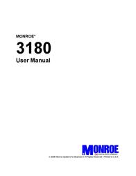 Monroe 3180 User Guide