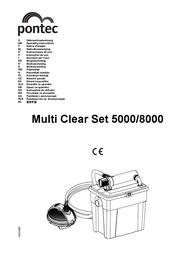 Pontec 50238 Pond filter set 5000 with UVC and pump Black 50238 User Manual
