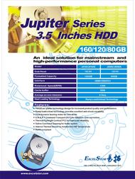 ExcelStor Jupiter J8160s 160 GB ESJ8160SR-1 Leaflet