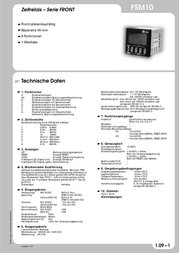 Tele 180600 Time Delay Relay, Timer, 1 Changeover (floating) 24 V DC/AC IP66 (for front installation) 180600 Data Sheet