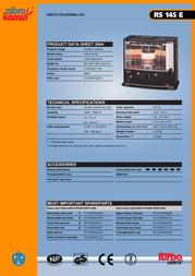 Zibro RS 145 E (BK, type D) RS 145 E Data Sheet