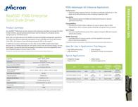 Micron P300 SSD 50GB MTFDDAC050SAL-1N1AA Leaflet