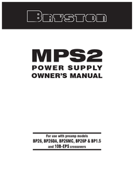 Bryston MPS2 User Manual