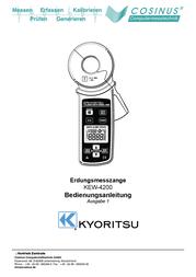 Kyoritsu KEW4200 earthing testing clamp KEW 4200 User Manual