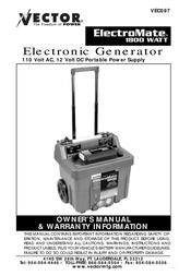 Vector ElectroMate VEC097 User Manual