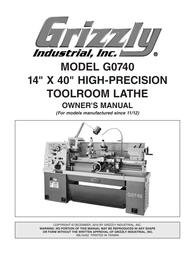 Grizzly G0740 User Manual
