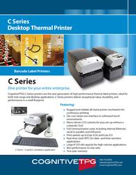 """Cognitive TPG C Series, CX, DT, 2"""", 203dpi CXD2-1000 Leaflet"""