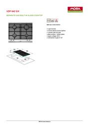 Mora VDP 642 GX 390086 Leaflet