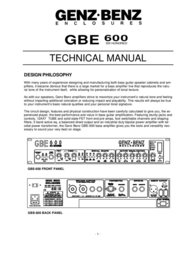 Coustic GBE 600 User Manual