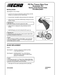 Echo 99944230001 User Manual