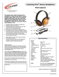 Califone 2810-TI Leaflet
