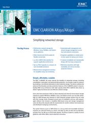 EMC Clariion AX150 Dual FC 4x500GB AX150-500 Data Sheet