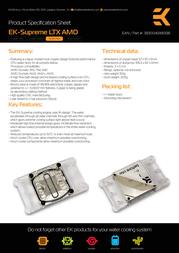 EK Water Blocks EK-Supreme LTX AMD - EN (Nickel) 3830046990518 Leaflet